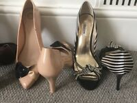 HARDLY WON FAMOUS BRANDS LADIES SHOES FROM DUNE, RALPH LAUREN ETC - SIZE 7-8