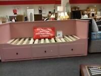 Stylish pink bed