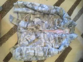 Girls next pretty camouflage jacket age 7/8