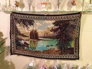 "Wall hanging scenic 53"" x 33"" high"