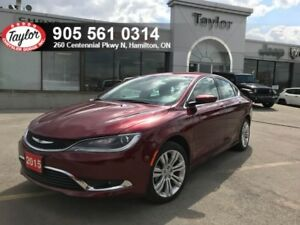 2015 Chrysler 200 Limited 4 Cyl w/Remote Start, Backup Cam