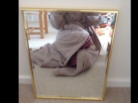Gold rectangle mirror