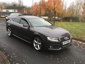 audi a5 2010 59 plate 2.0 tdi s line 5 door hatchback xenon lights leather seats service history