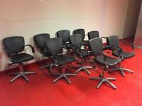 9 x REM hairdressing salon styling chairs