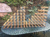 2 x Pine & Steel wine racks - 62cm wide x 62cm high x 23cm deep