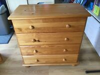 4 x Chests of pine drawers. £30 each or £100 for all