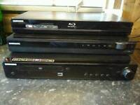 Samsung bluray and two home cinemas all found in new house! Untested! Can deliver or post!