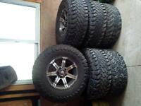 35x12.5x17 Toyo open country tires on dickcepek rims