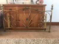 Stunning 5 ft gold headboard with detail