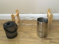 Wine rack ice bucket and wine cooler