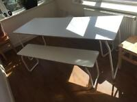 Table + benches (in- outdoor)(Ikea PS)