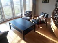 2 lounge chairs.
