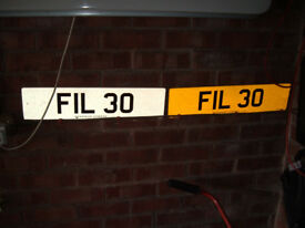 Private cherished personalised registration number FIL 30 phil