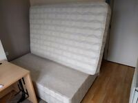 Small double divan bed with 2 draws + mattress (RRP £200)