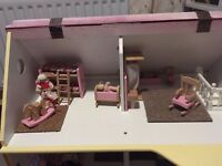Wooden Custom Built Dolls House & Furniture