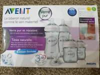 Philips Avent Baby Glass Bottle Set New