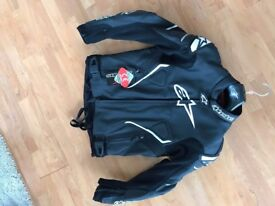 ** Alpinestars ATEM leather motorcycling jacket UNUSED **