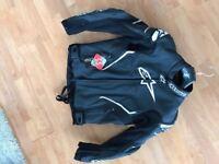 ** Alpinestars ATEM leather motorcycling jacket UNUSED **