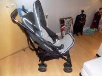 mamas and pappas pushchair with rain cover ex con cost 200 when bought hardly used .