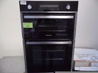 NEW GRADED HOTPOINT INTEGRATED DOUBLE OVEN (12 month warranty) REF: 13167