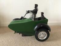 MOTORBIKE & SIDECAR LARGE MODEL (FROM THEATRE PRODUCTION) GREAT FOR SHOP WINDOW/ HOME DISPLAY