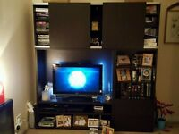 Multi function Ikea TV and wall display unit
