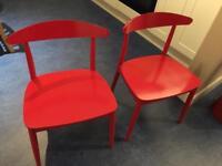 Beautiful pair Habitat chairs