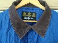 BARBOUR MANS BRAND NEW ROYAL BLUE QUILTED COAT/JACKET SIZE XL BARGAIN REDUCED TO ONLY £25
