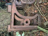 Vintage Cast Iron Belfast sink stands in good condition