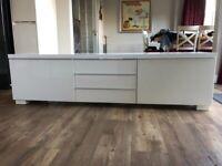 White IKEA tv cabinet