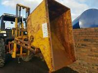 Forklift tipping skip ideal for farm stables scrap rubbish etc