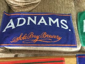 5 New Bar Towels Adnams & Broardside//Worthington's/GreeneKingIPA EnglandRugby Fab Man Cave/Home Bar