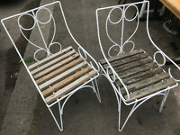 old vintage garden chairs ( Pair )