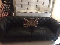 Classic Chesterfield black couch