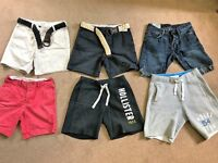 Assorted Abercrombie & FItch and Hollister Mens Shorts