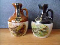Vintage Pair Handcrafted Montrose Potteries Whiskey Flagons