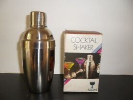 Cocktail Shaker/Stainless Steel - never used