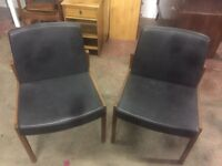 PAIR OF RETRO FOSTER & SONS CHAIRS