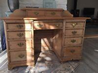 Pretty old pine desk