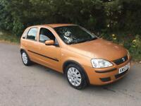 2003 03 VAUXHALL CORSA 1.2 ACTIVE 5 DOOR PETROL ONLY 79,000 MILES WITH MAIN DEALER SERVICE HISTORY