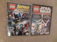 Lego Star Wars and Batman DVDs