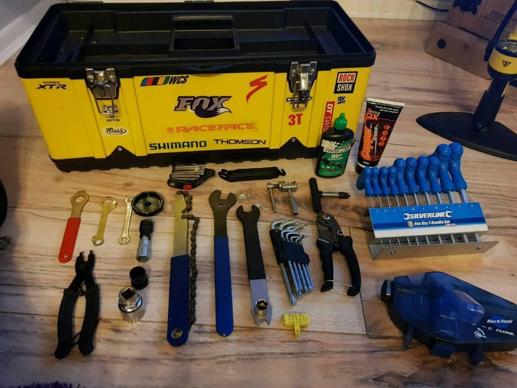 Bike tools plus bike stand
