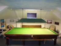 Full size snooker table / cues