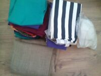 joblot of fabric. some big pieces. etc