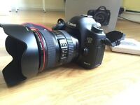 Canon 5D mark 3 + 24-105 kit.