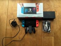 Nintendo Switch Console - Neon, fully boxed and working