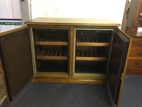 euro cave wine bottle cooler/humidifier solid wood