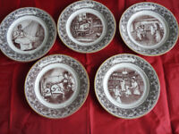 limited edition dishes part set in good condition (5)