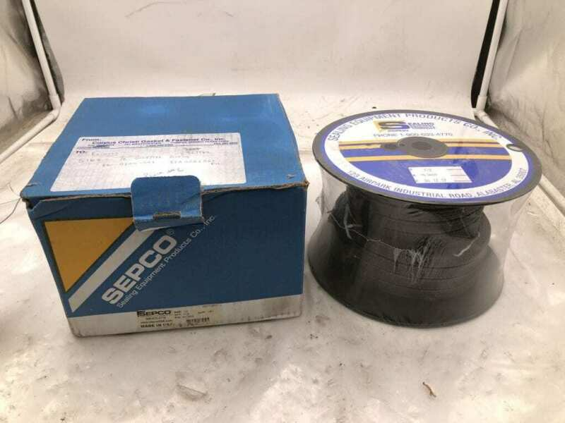 "SEPCO ML3600 1/2"" PTFE/Graphite Pump Packing 5ft -NIB"