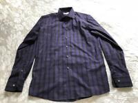 "Eton Contemporary shirt Eton of Sweden Black & Purple Size 15 3/4"" - 100% Cotton"